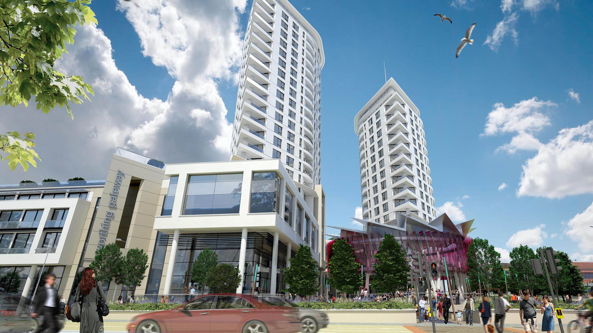 Russ Drage Architects - Worthing Gateway - - Masterplanning & Urban Design Architects
