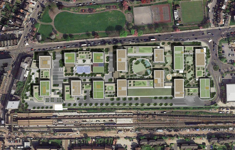 Goodmayes_Aerial_Barley Lane Park_Crossrail_1170 x 750_v6